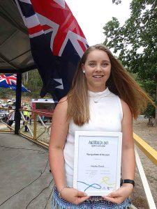 Award ceremony at Henley on Mersey Australia Day Latrobe Council Tasmania