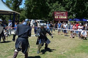 Knights in Shinning Armour at Henley on Mersey Australia Day Latrobe Council Tasmania