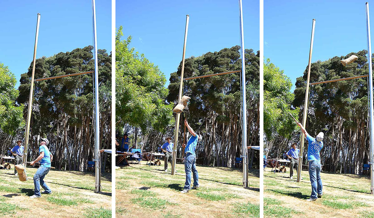 Henley-on-Mersey-Sheaf-Tossing Activity Australia Day