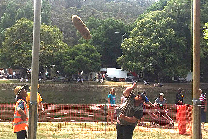 sheaf tossing Australia Day Latrobe Council Henley on Mersey