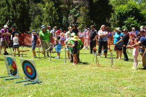 Archery at Henley on mersey Australia Day 26th Latrobe Council Tasmania