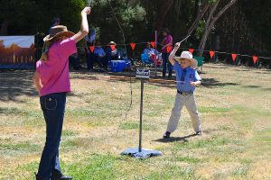 Whip Cracking at Henley on Mersey Australia Day Latrobe Council Event